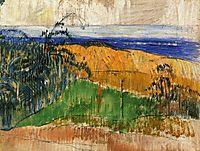 View of the beach at Bellangenai, 1889, gauguin