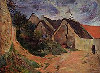 Village street, Osny, 1883, gauguin