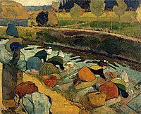 Washerwomen at Roubine du Roi, gauguin