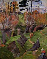 The willows, 1889, gauguin