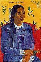 Woman with a Flower, gauguin