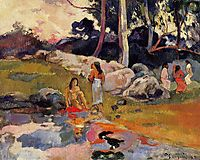 Women at the banks of river, 1892, gauguin
