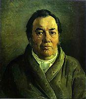 Portrait of Nikolay O.Ge, Artist-s Father, 1854, ge