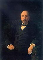 Portrait of the Poet Nikolay Nekrasov, 1872, ge