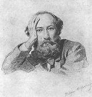 Portrait of Russian baritone opera singer Gennady Kondratiev, 1863, ge