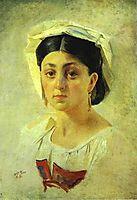 Young Italian Woman in a Folk Costume, Study, 1857, ge