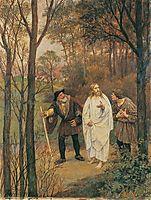 CHRISTUS UND DIE JÜNGER VON EMMAUS, 1914, gebhardt