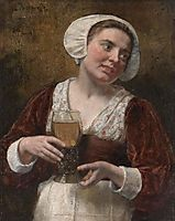 A Young Woman With A Wineglass, gebhardt