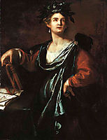 Clio, the Muse of History, 1632, gentileschi