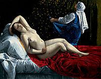 Danae, 1612, gentileschi