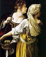 Judith and her Maidservant, 1613, gentileschi
