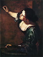 Self-portrait as the Allegory of Painting, 1639, gentileschi