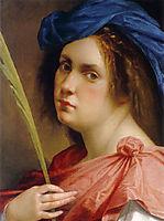 Self-portrait as a Female Martyr, 1615, gentileschi