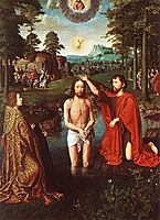 The Baptism of Christ (Central section of the triptych), c.1505, gerarddavid