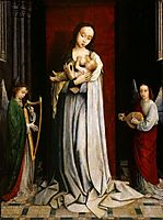 Madonna and Child with Two Music Making Angels, 1498, gerarddavid