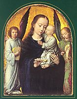 Mary and Child with Two Angels Making Music, gerarddavid