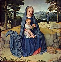 The Rest on the Flight into Egypt, c.1510, gerarddavid