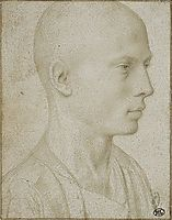 Study of a Bust of Yyoung Boy with Shaved Head, gerarddavid