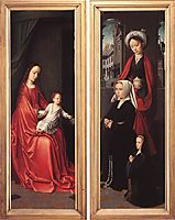 Triptych of Jan Des Trompes (rear of the wings), 1505, gerarddavid