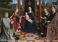 The Virgin and Child with Saints and Donor, c.1510, gerarddavid