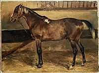 Brown Horse in the Stalls, gericault