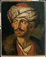 Head of an Oriental, or Portrait Presumed to be Mustapha, 1821, gericault