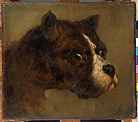 The head of bulldog, gericault