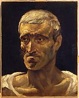 Head of a Shipwrecked Man (study for the Raft of Medusa), 1819, gericault
