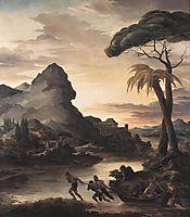 Heroic Landscape with Fishermen, 1818, gericault