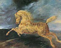 Horse frightened by lightning, gericault
