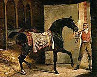Horse leaving a Stable , gericault