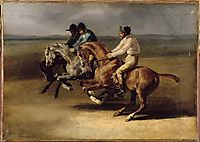 The Horse Race, 1824, gericault
