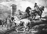 Horses, gericault