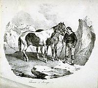 Horses of the Auvergne, 1822, gericault