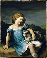 Portrait of Louise Vernet as a Child, 1819, gericault