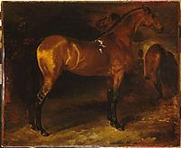 Spanish horse in a stable, gericault