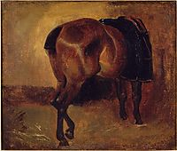 Study for Bay horse seen from behind, gericault