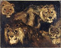 Study for Four Lions, gericault