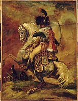 Study for OfficerofChasseursof the Imperial Guard, gericault
