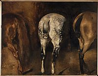Three rumps of horses, gericault