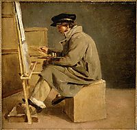 Young painter at his easel, gericault