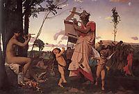 Anacreon, Bacchus and Cupid, 1848, gerome