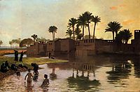 Bathers by the Edge of a River, 18, gerome