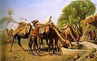 Camels at the Trough, 1857, gerome