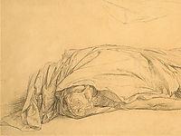 The Dead Caesar, detail 1, 1859, gerome