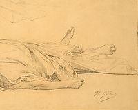 The Dead Caesar, detail 3, 1859, gerome