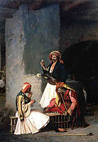 The Draught Players, 1859, gerome