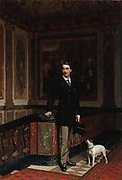 The Duc de La Rochefoucauld-Doudeauville with his Terrier, 18, gerome
