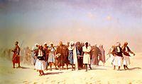 Egyptian Recruits Crossing the Desert, 1857, gerome