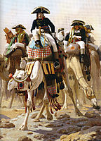 General Bonaparte with his Military Staff in Egypt, 1863, gerome
